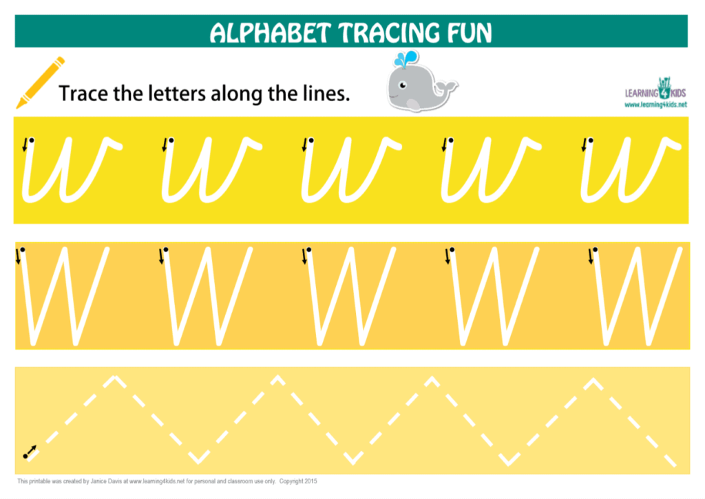 Number & Letters Tracing Mats Cursive Print