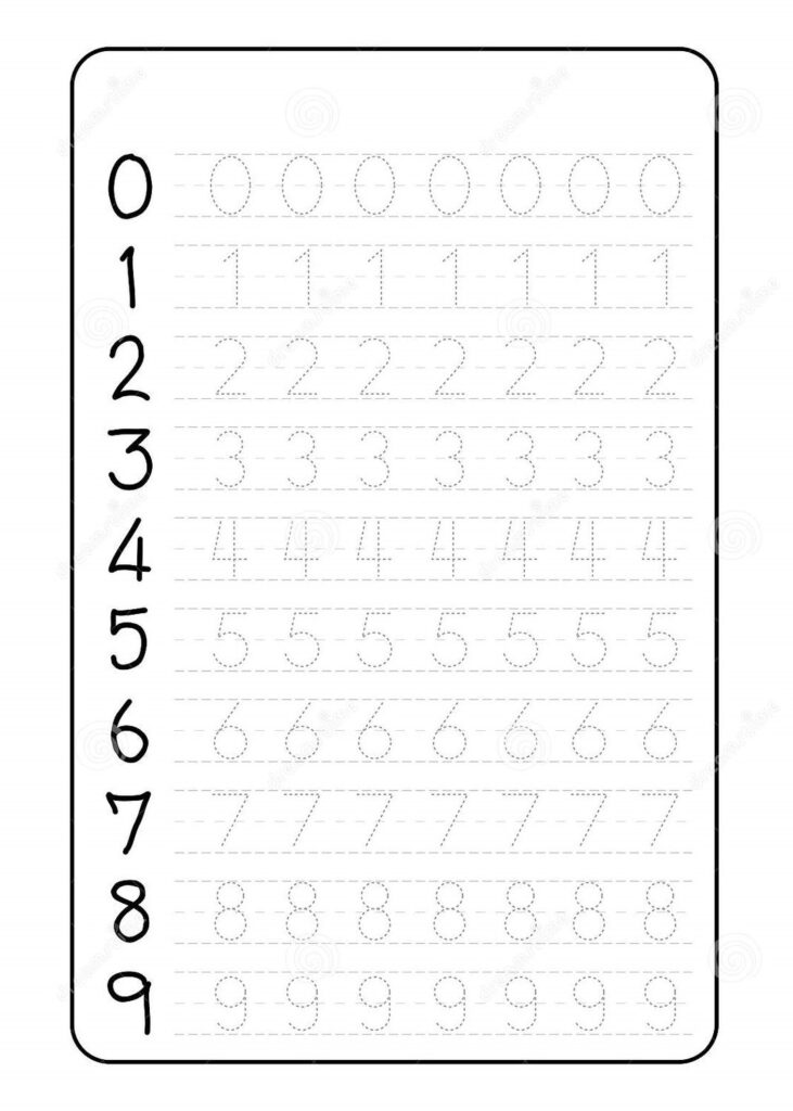 Number Trace Worksheets Preschool Tracing For Magic Math