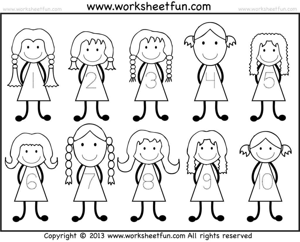 Number Tracing  1 10 – Worksheet / Free Printable Worksheets