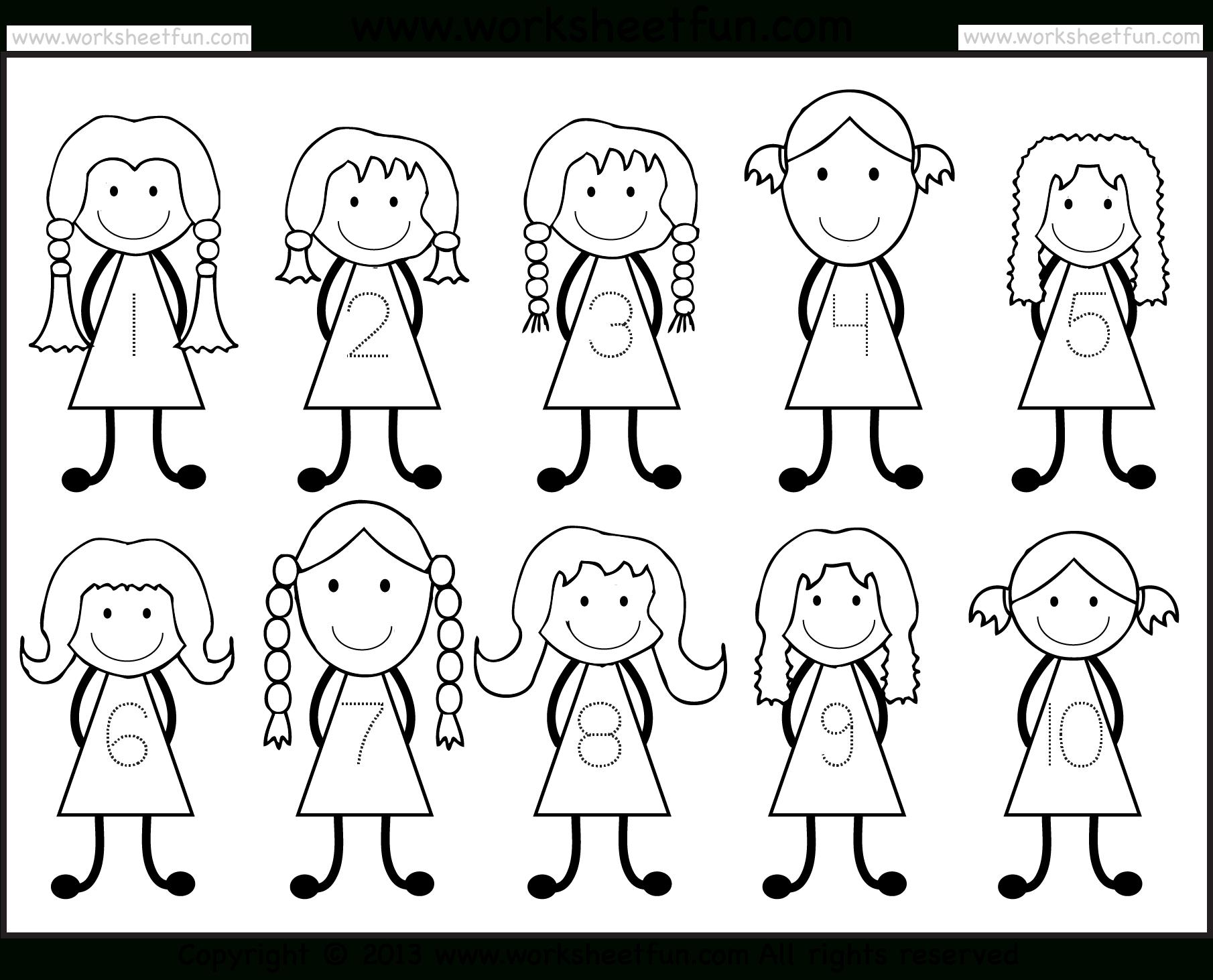 Number Tracing -1-10 – Worksheet / Free Printable Worksheets