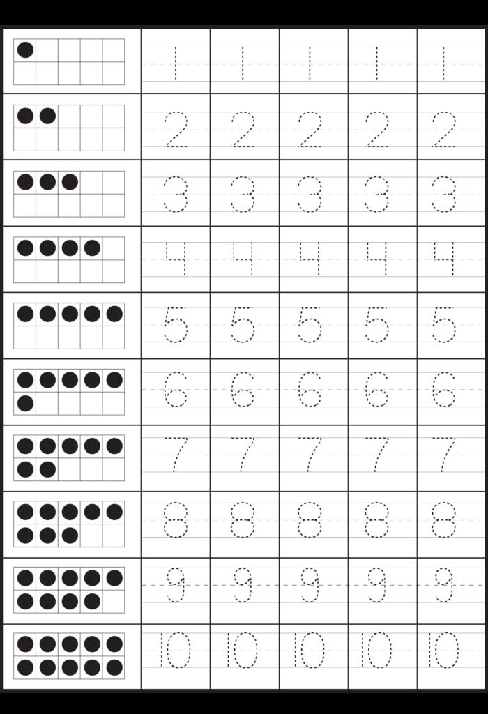 Number Tracing – 2 Worksheets / Free Printable Worksheets