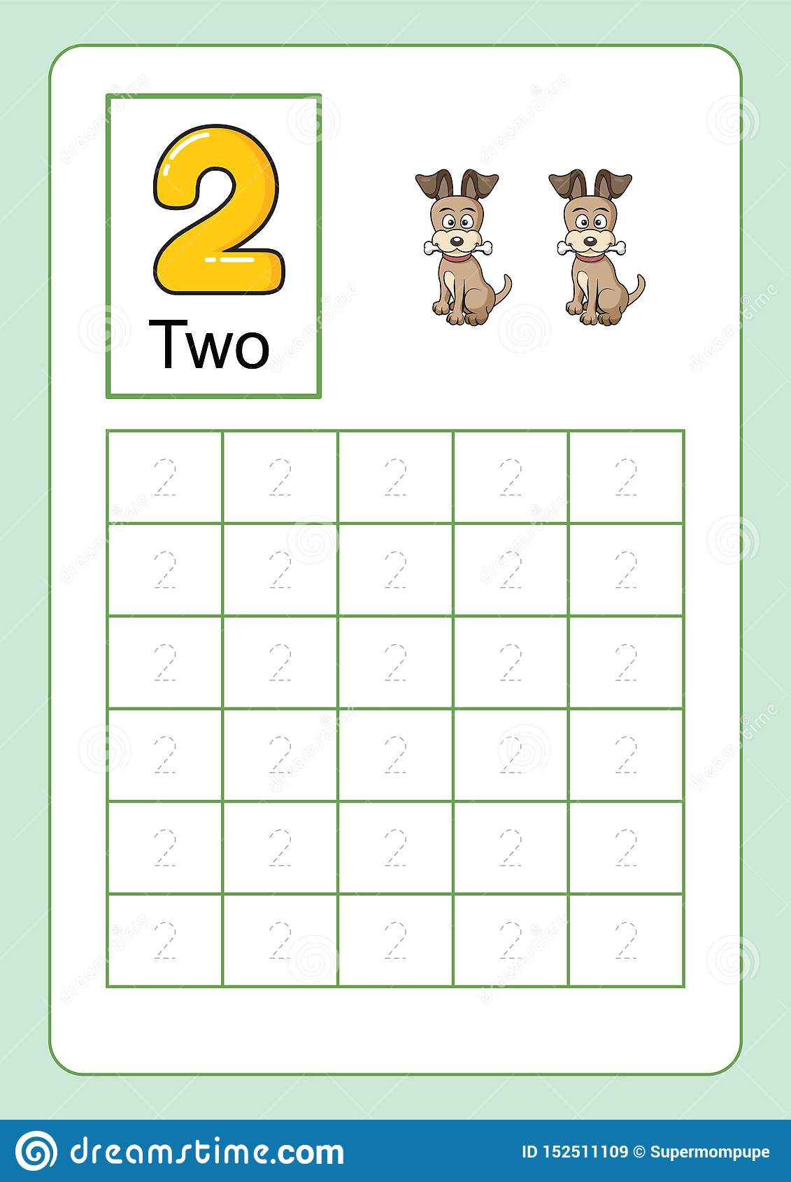 Number Tracing And Writing Worksheet For Kindergarten