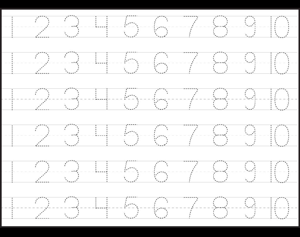 Number Tracing Lines Box 3 1,810×1,428 Pixels | Tracing