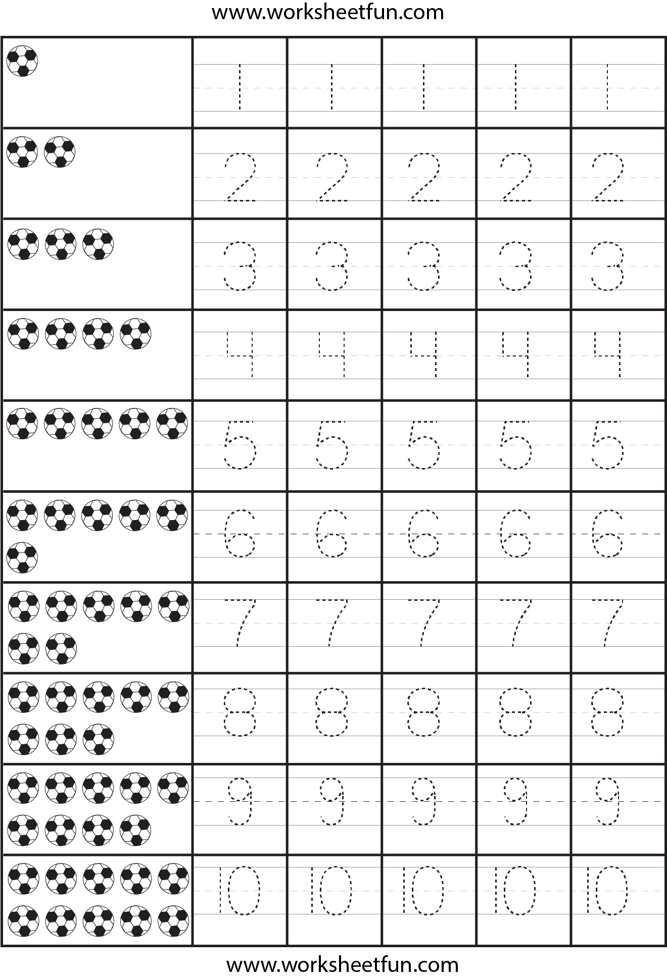 Number Tracing Lines Box Numbers To Worksheet Page Art