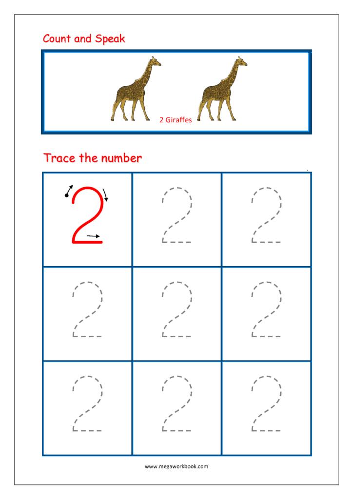 Number Tracing   Tracing Numbers   Number Tracing Worksheets