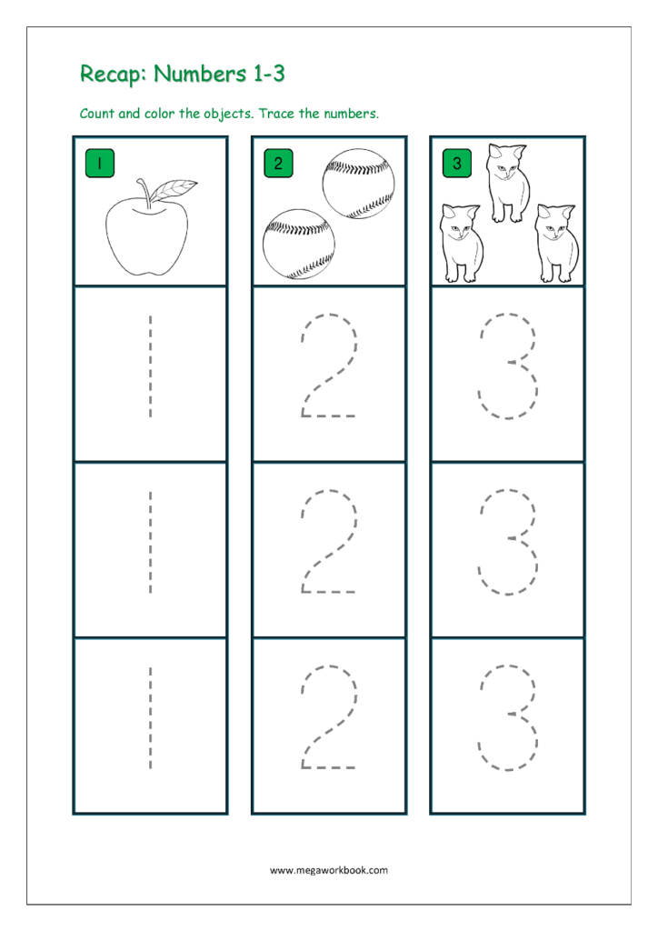 Number Tracing   Tracing Numbers   Number Tracing Worksheets