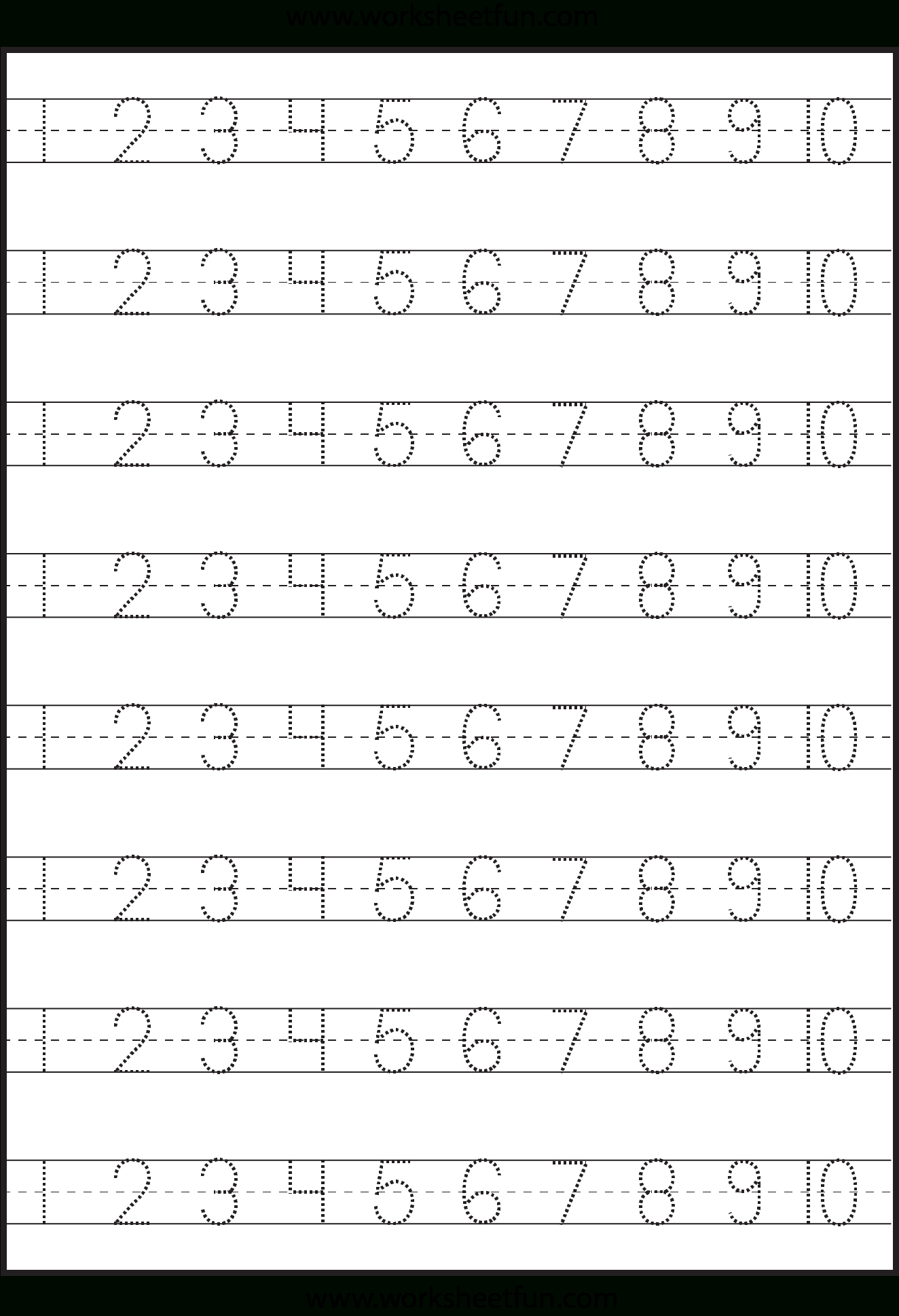 Number Tracing Worksheet Generator Printable Worksheets And