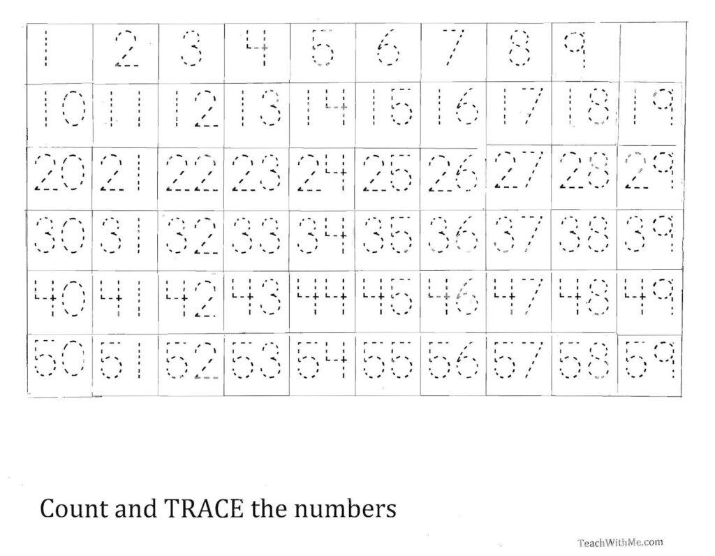 Number Tracing Worksheet Printable Worksheets And Numbers
