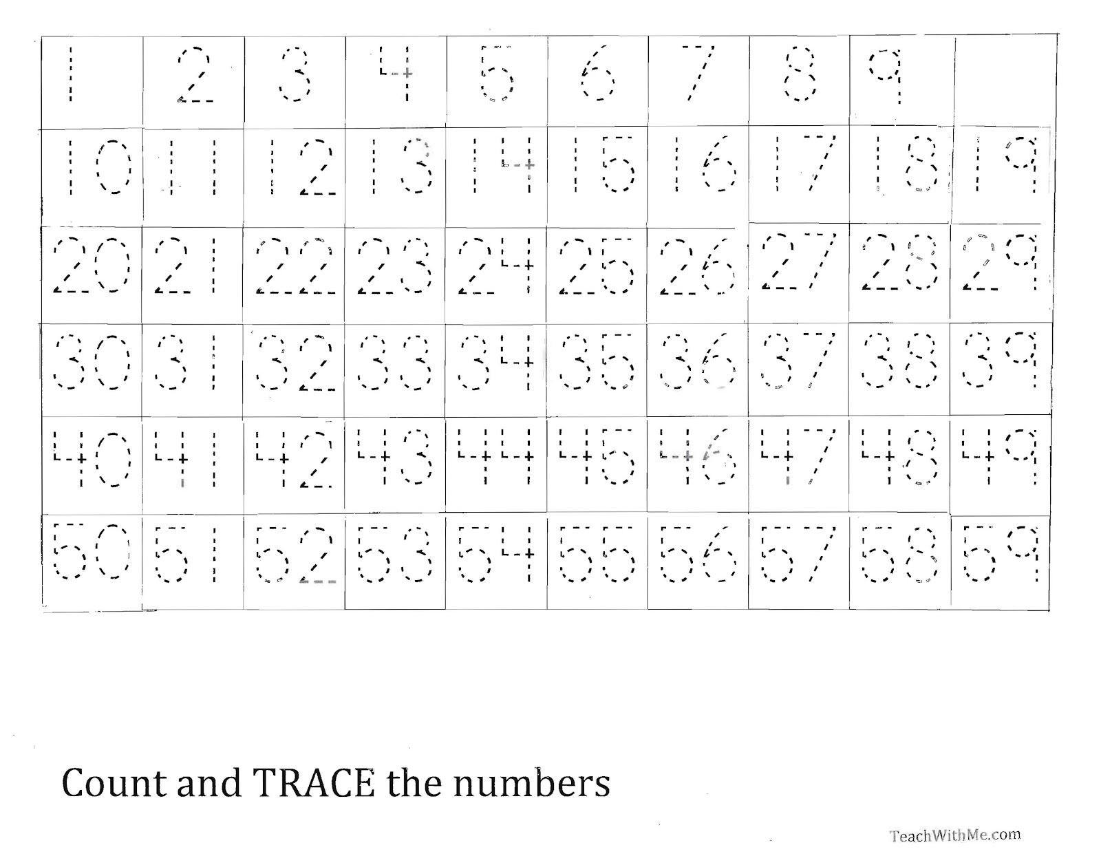 Number Tracing Worksheet Printable Worksheets And Numbers To
