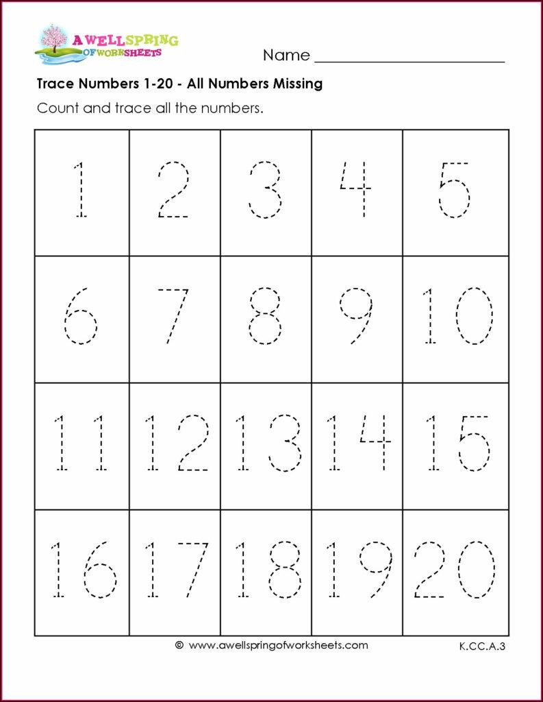 Number Tracing Worksheets 1 50 Free   Printable Worksheets