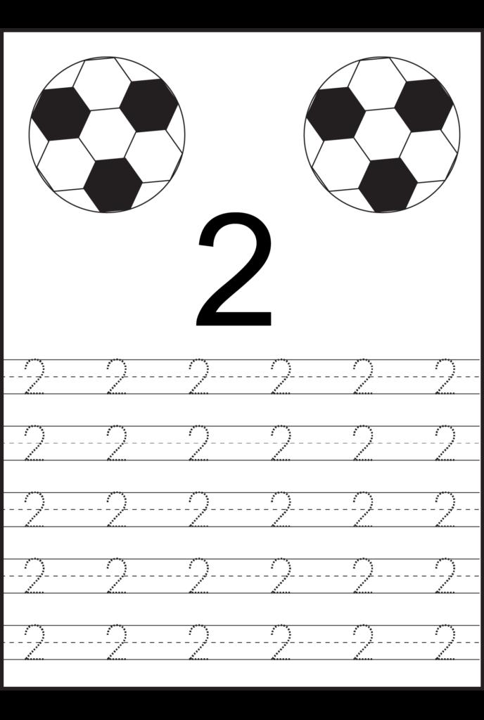 Number Tracing Worksheets For Kindergarten  1 10 – Ten