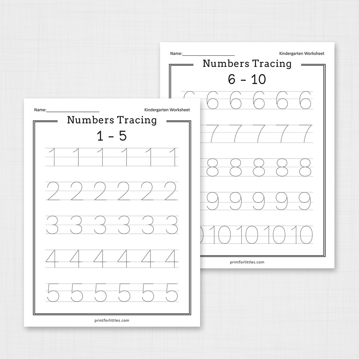 Numbers 1-20 Tracing Worksheets | Free Printable Worksheets