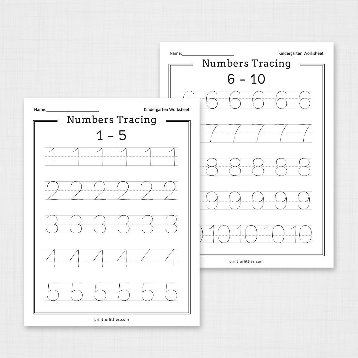 Numbers 1-20 Tracing Worksheets | Free Printable Worksheets