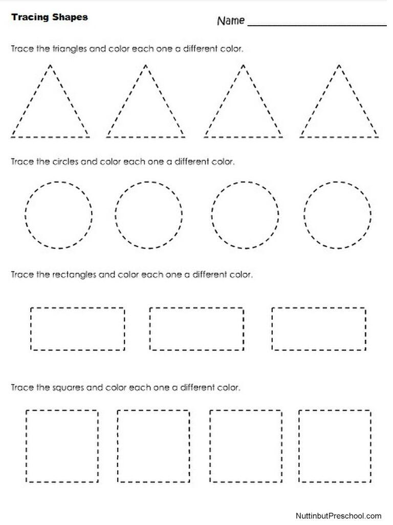 Nuttin' But Preschool | Tracing Shapes, Shapes Preschool