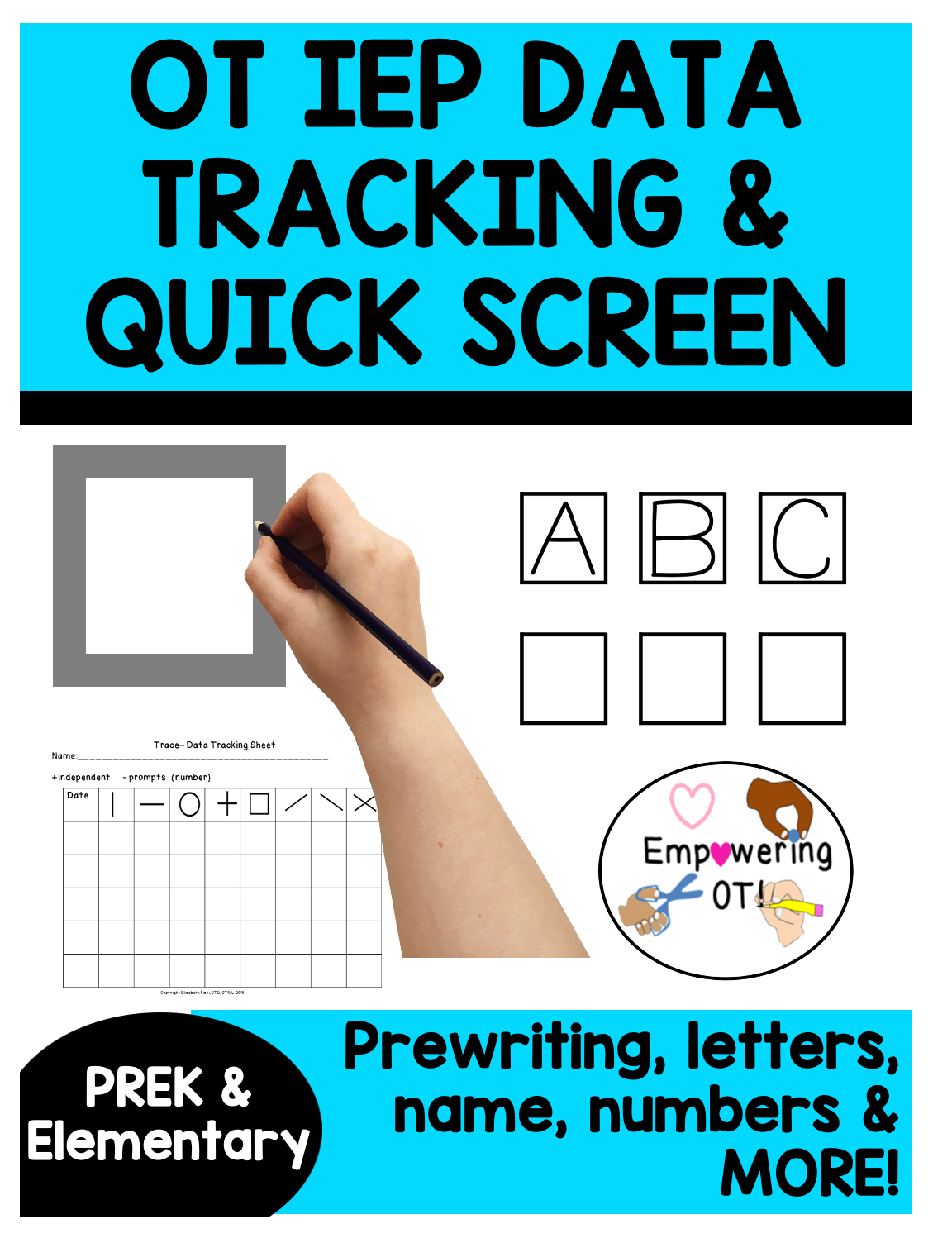 Occupational Therapy Screening Iep Goal Tracking pertaining to Tracing Name Iep Goal