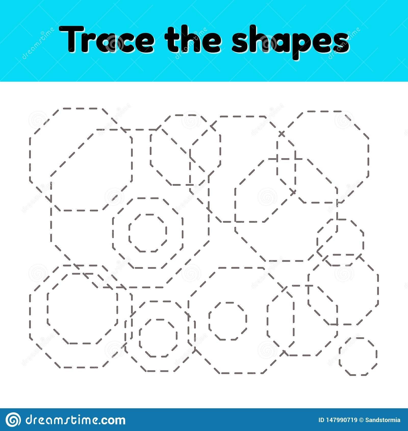 Octagon Worksheet For Preschoolers Educational Tracing