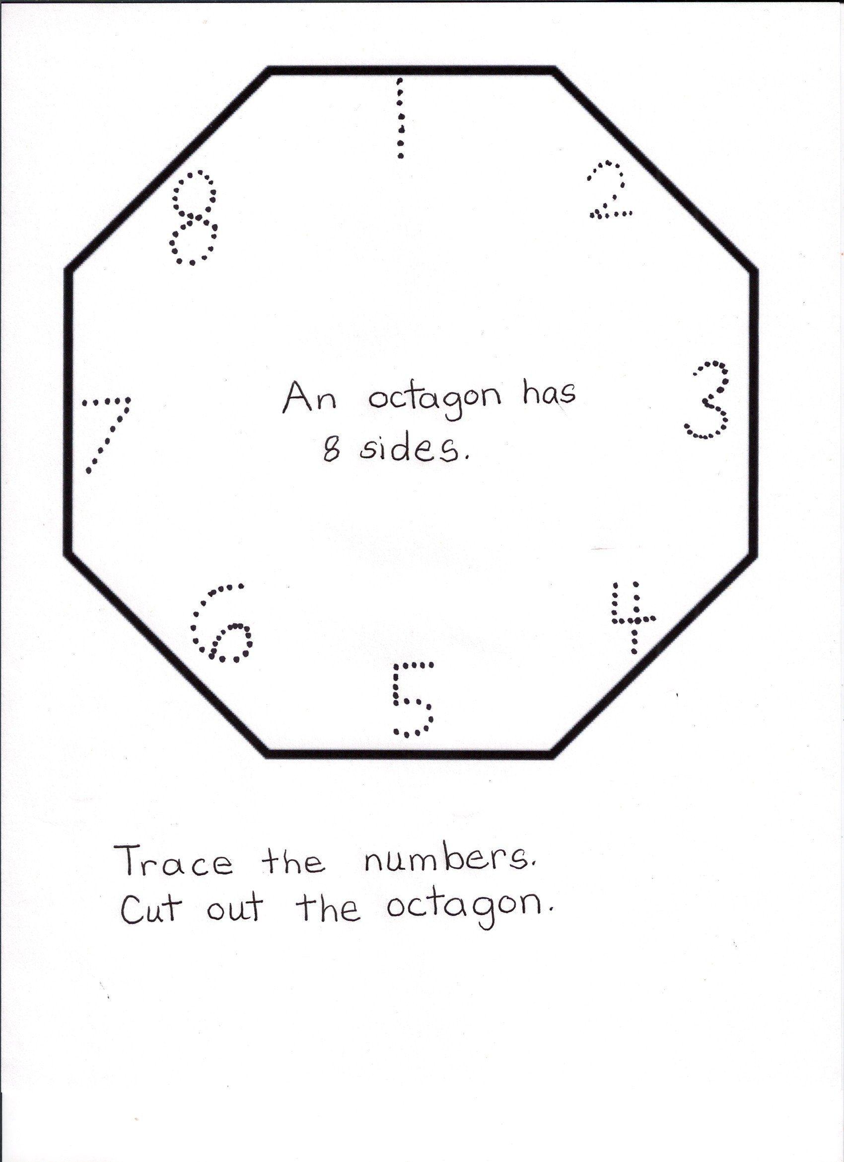 Octagon Worksheets For Preschool Polygon Shapes Worksheets