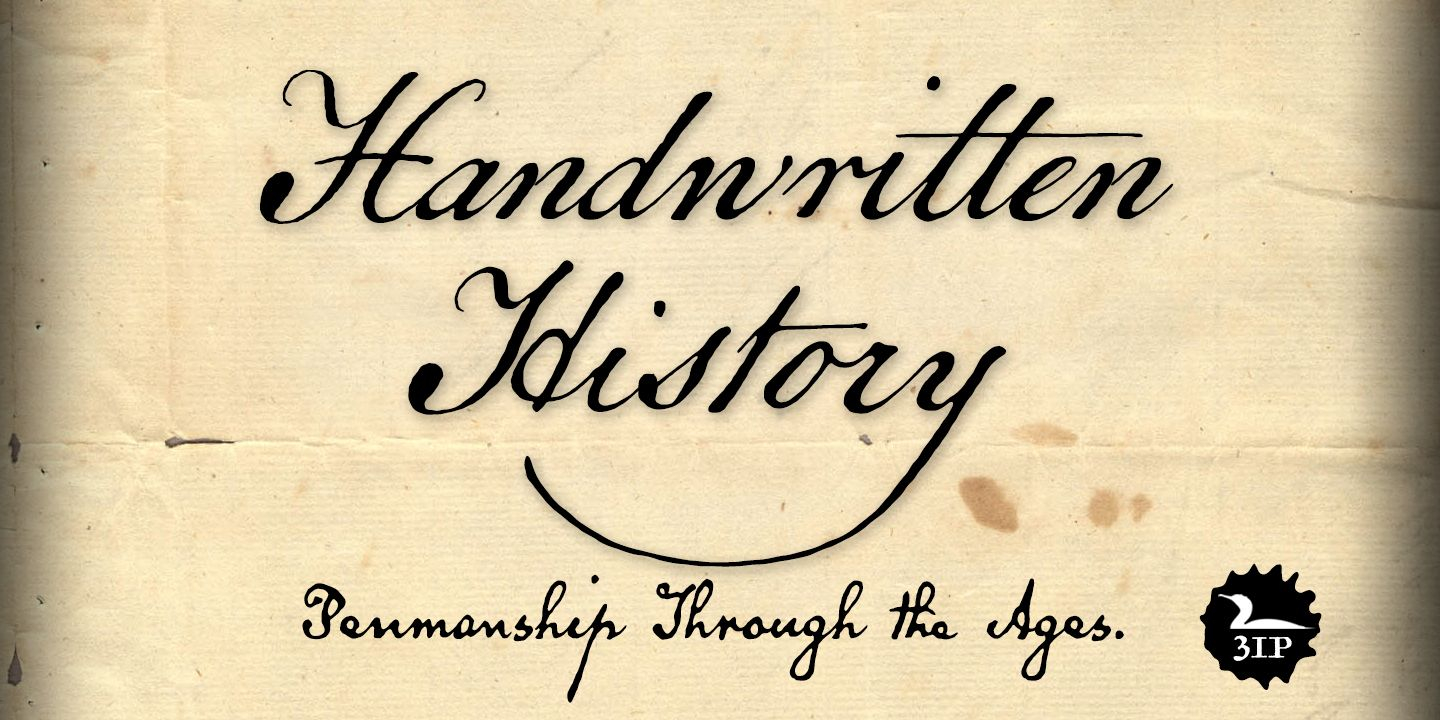 Oldfonts | Our Handwritten History Bundle | History Font