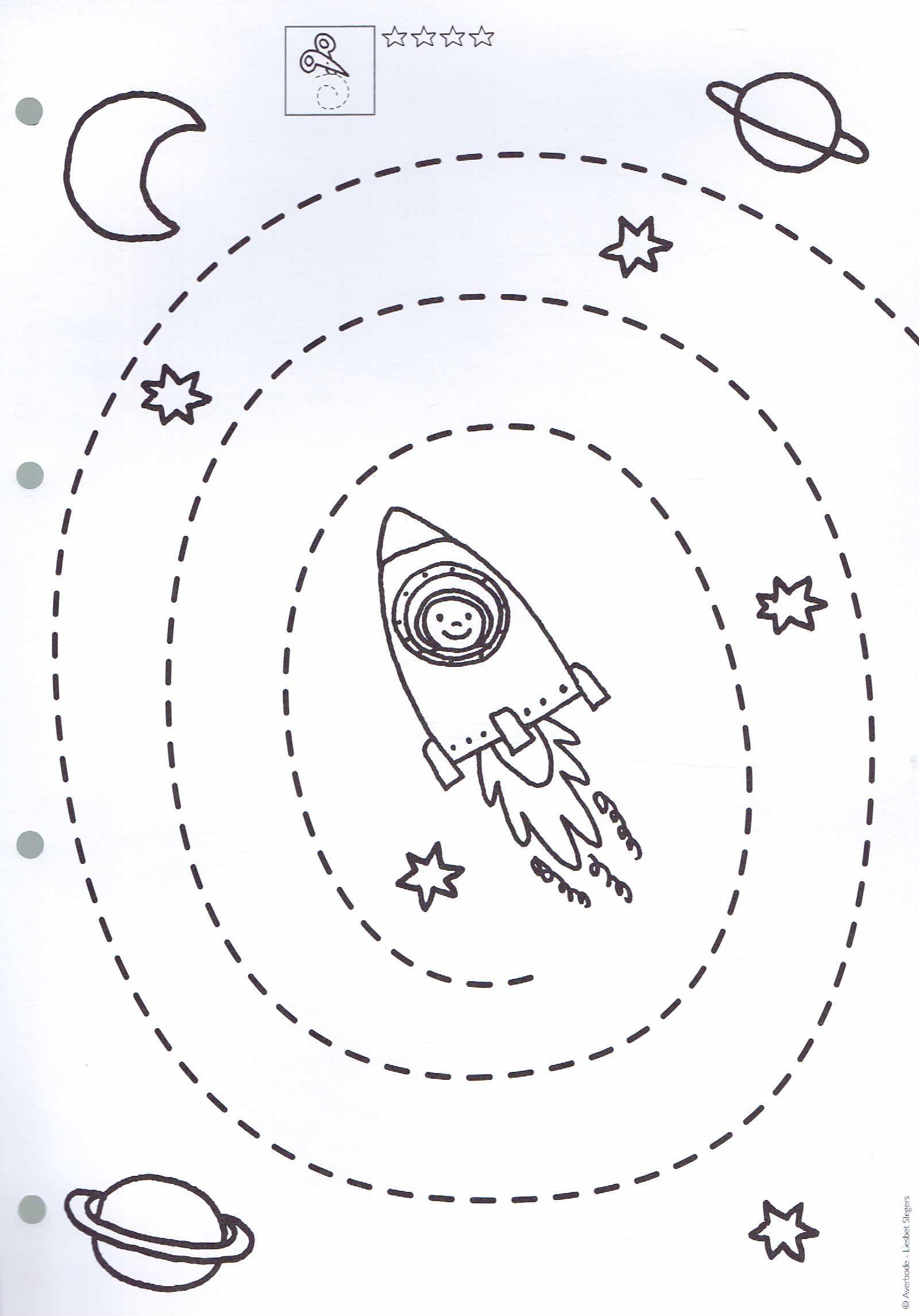 Opdracht Fijne Motoriek | Space Preschool, Preschool Tracing