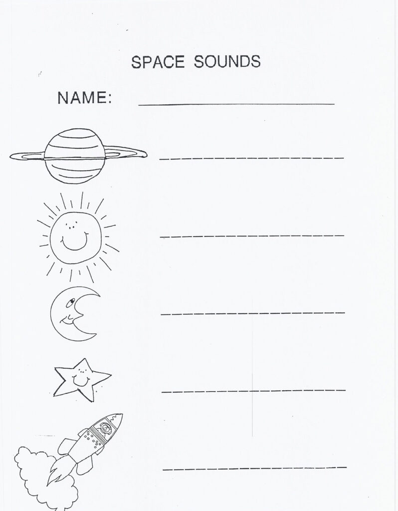 Outer Space Worksheets For Kids Activity Shelter Printable