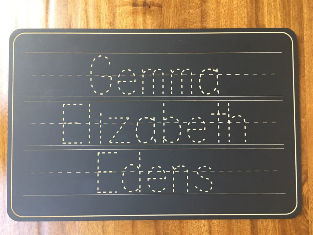 Personalized Name Trace Chalkboard Within Name Tracing Chalkboard