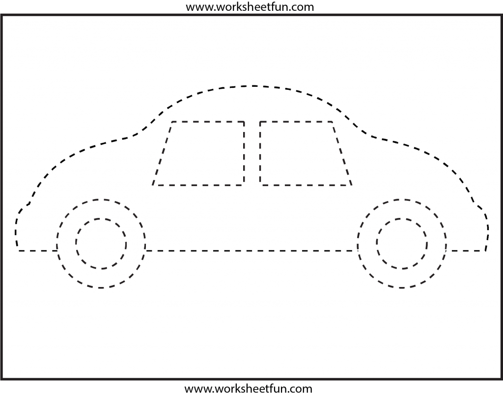 Picture Tracing – Car- 1 Worksheet / Free Printable