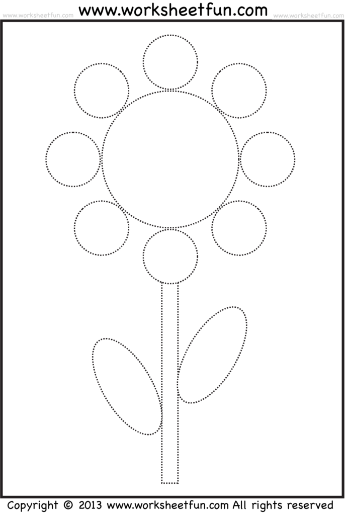 Picture Tracing Coloring  1 – Crafts And Worksheets For