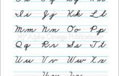 Cursive Alphabet Grade 2