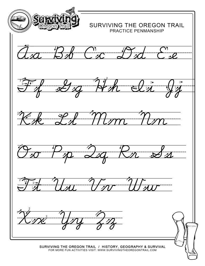Practice Penmanship – Free Abc's Printable Cursive Writing