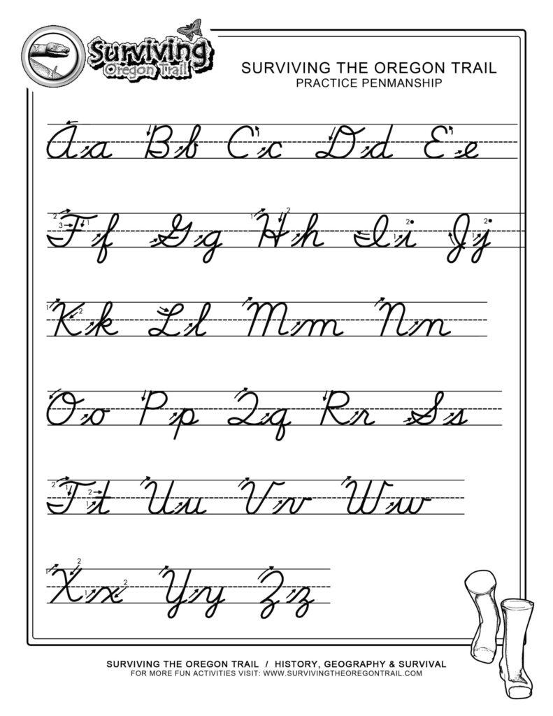 Practice Penmanship Free Printable Cursive Writing Pertaining To Alphabet Handwriting Worksheets Free