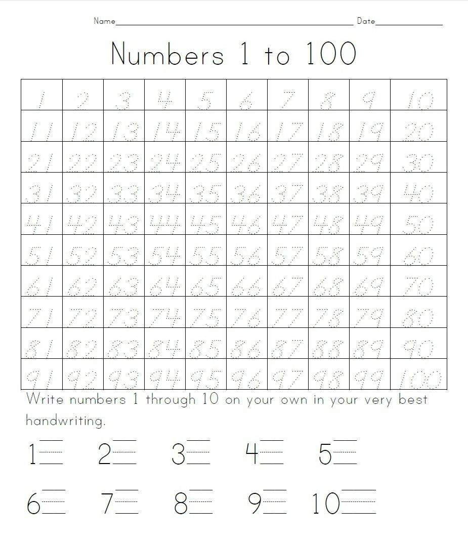 Practice Writing Numbers 1 100 | Crystal Hoffman Handwriting