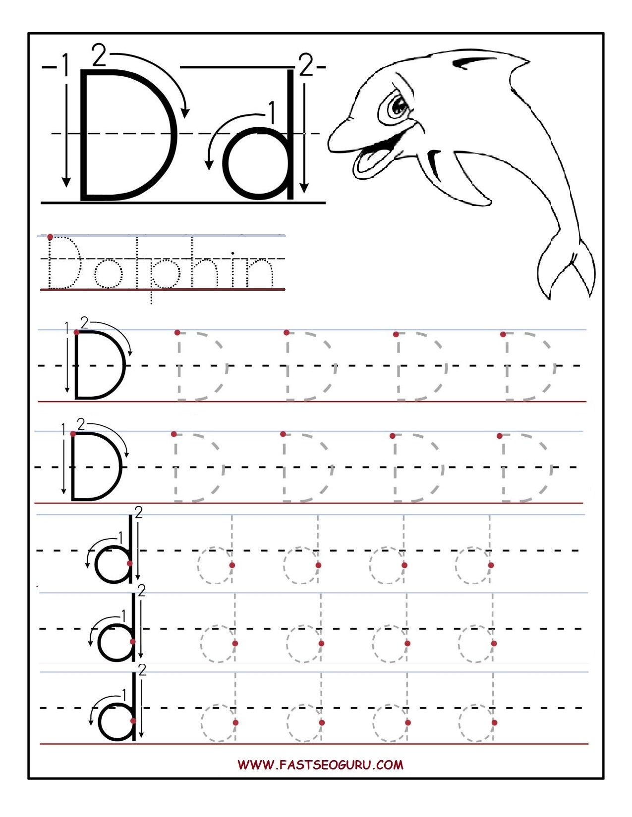 Preschool Alphabet Worksheets Printables Printable Letter A for Letter D Worksheets Pdf Free Printables