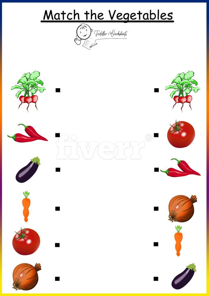 Preschool Free Worksheets Vegetables | Kindergarten