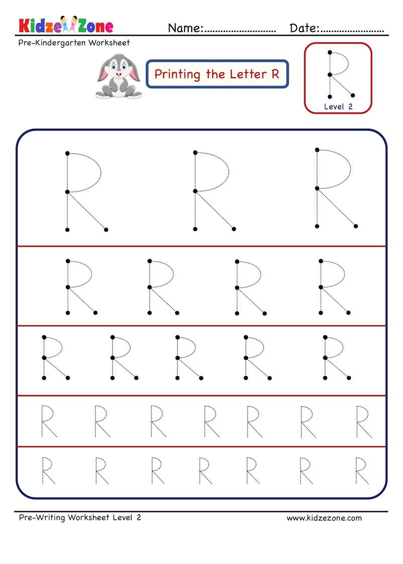 Preschool Letter Tracing Worksheet - Letter R Different