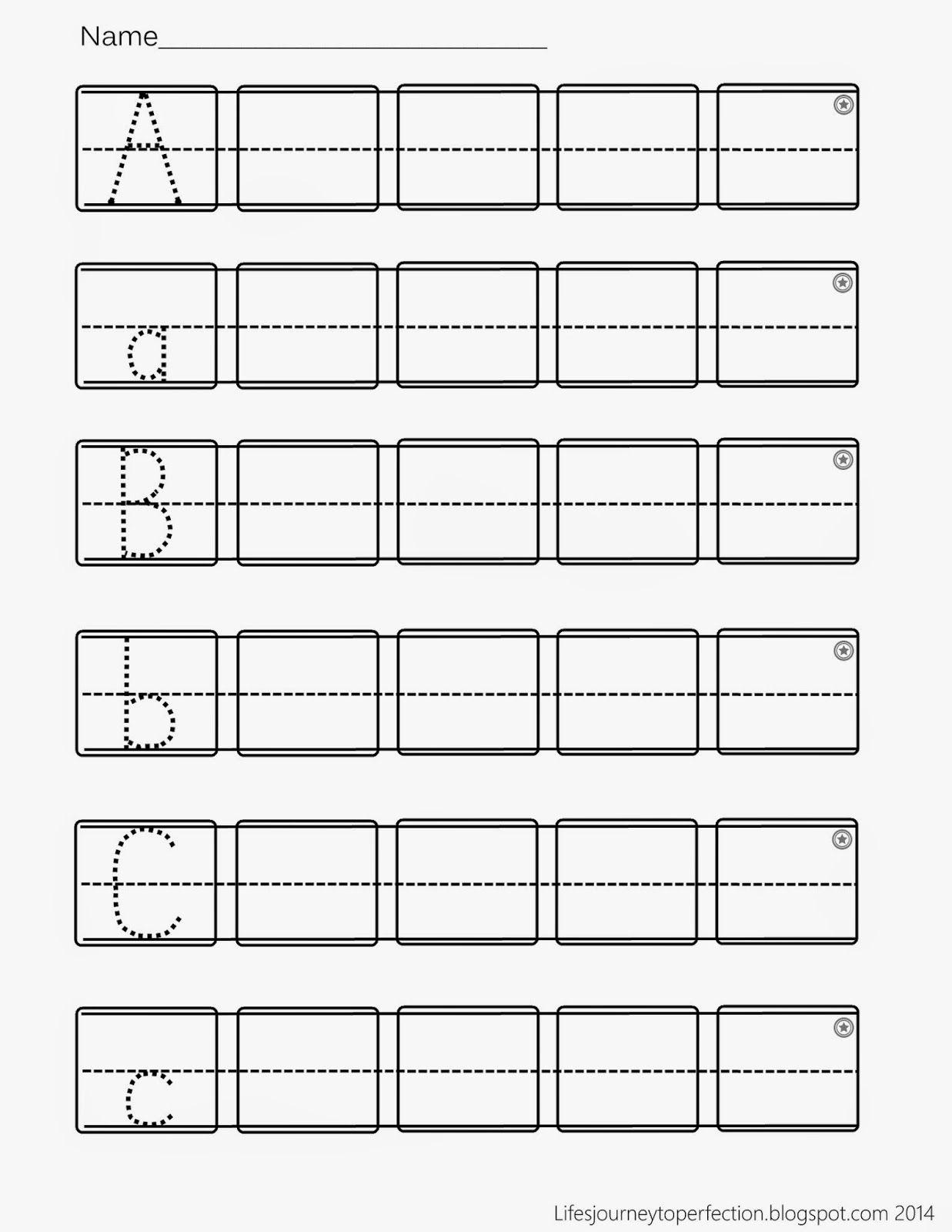 Preschool Practice Abc Writing Worksheet Printables   Abc in Pre-K Alphabet Writing Worksheets