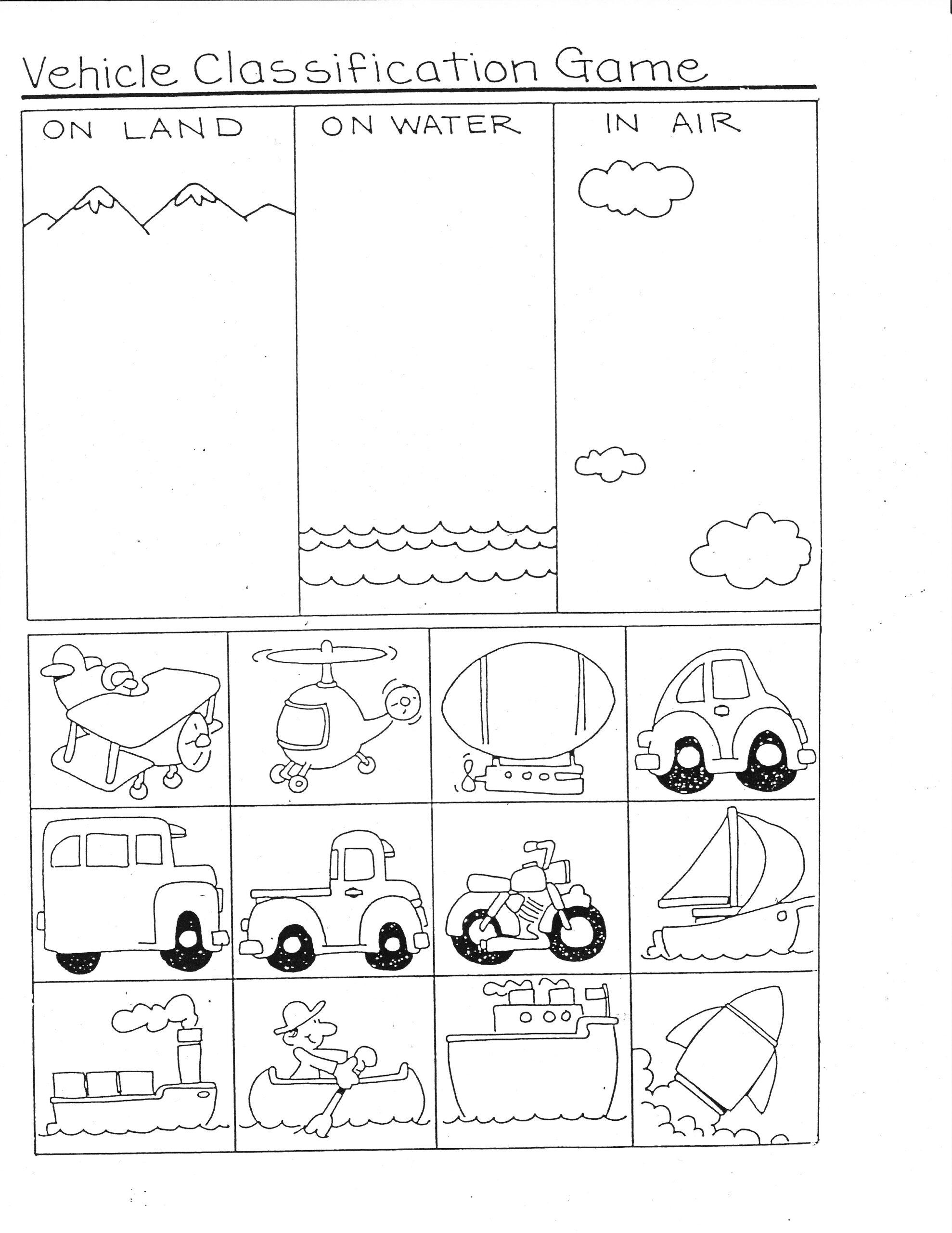 Preschool Printables Transportation Worksheet Body Parts Of