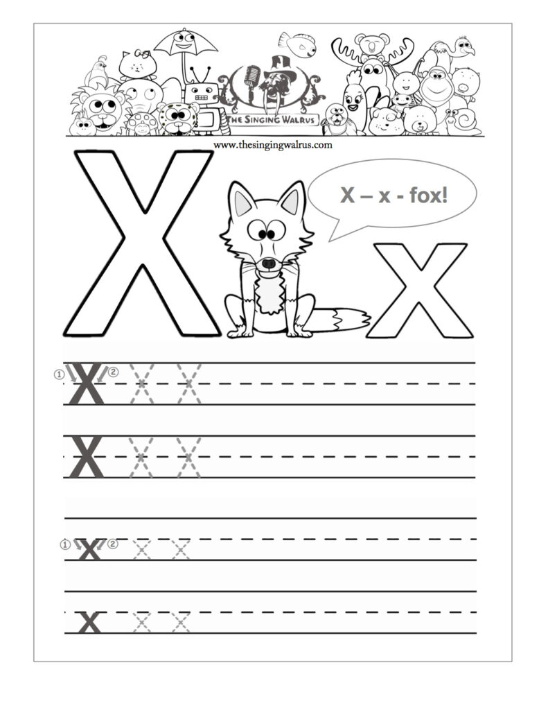 Preschool Reading Writing Worksheets Trace And Write The