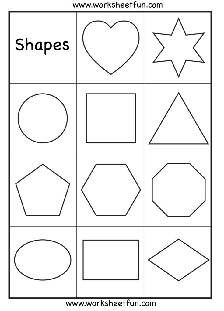 Preschool – Shapes Worksheet / Free Printable Worksheets
