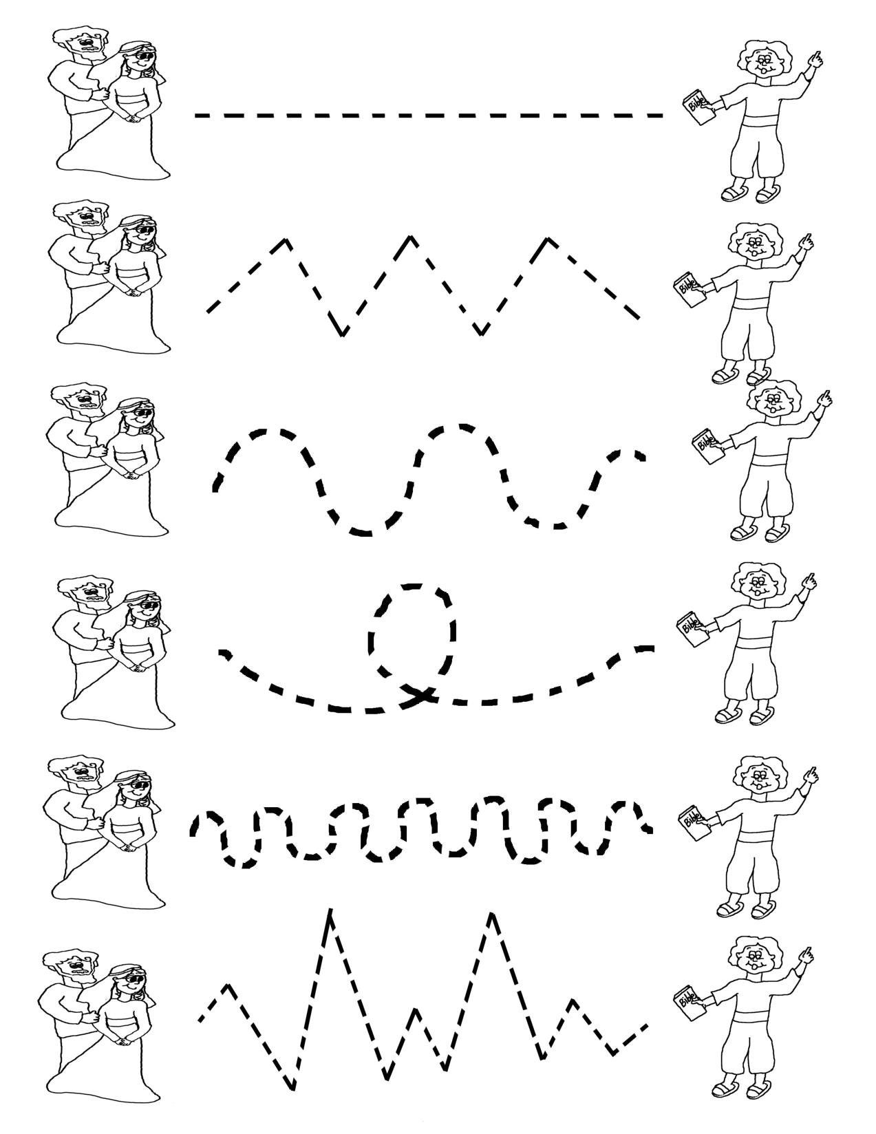 Lines Worksheets For Kindergarten