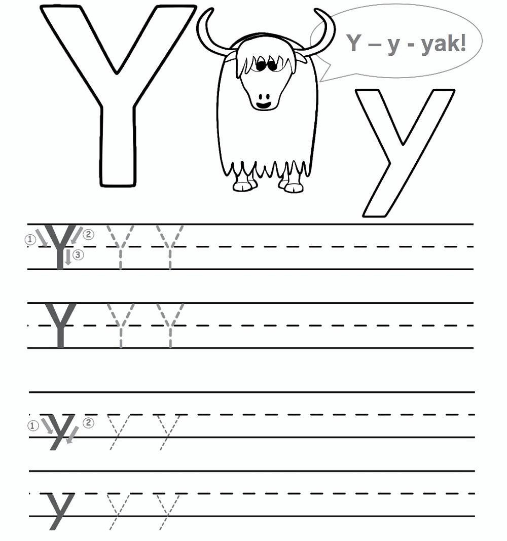 Preschool Worksheet Gallery: Letter Y Worksheets For Preschool within Letter Yy Worksheets