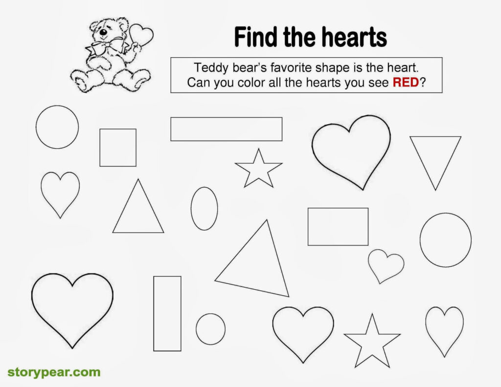 Preschool Worksheets Colors And Shapes Kids Activities