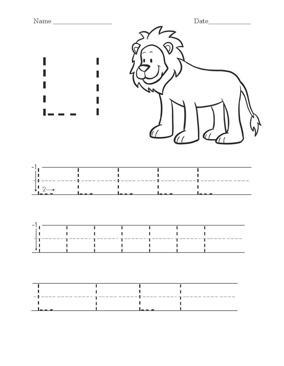 Preschool Worksheets For The Letter L : Brian Molko regarding Letter Ll Worksheets For Kindergarten