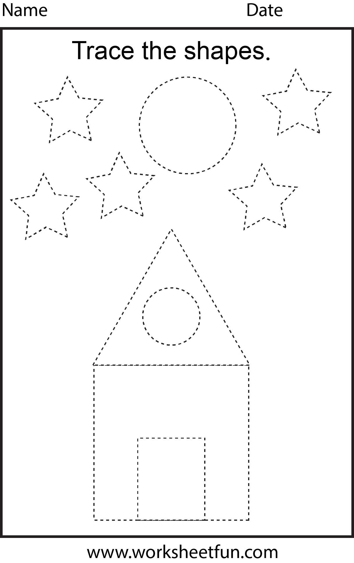 Preschool Worksheets | Free Preschool Worksheets, Shape
