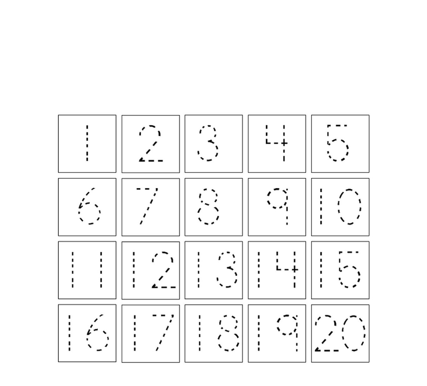 Princess Traceable Numbers 1 10 Worksheet   Printable