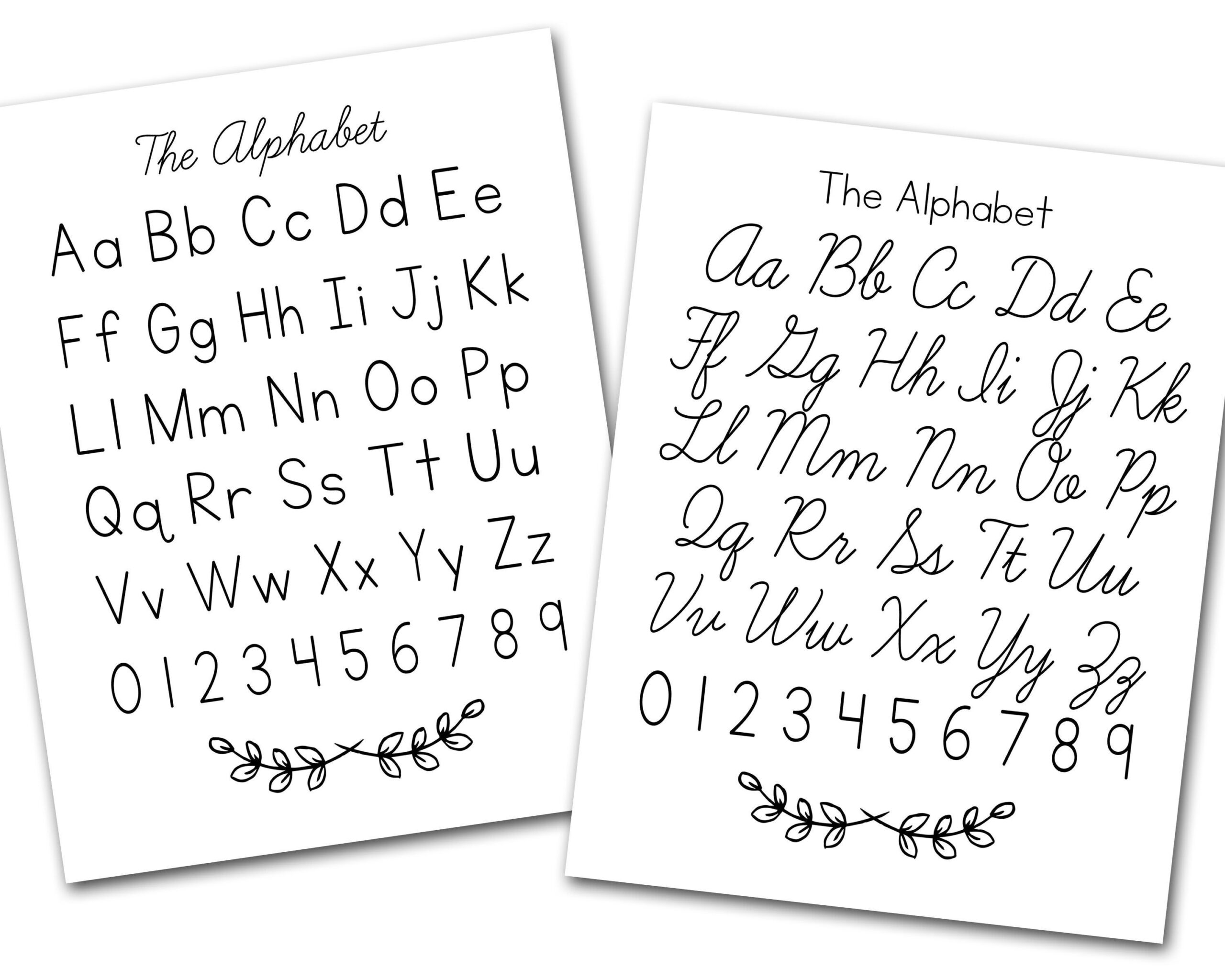 Print & Cursive Alphabet Desk Chart And Poster | Etsy In