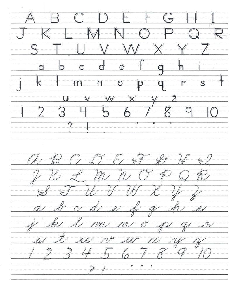 Print D Nealian Handwriting Worksheet   Printable Worksheets Pertaining To D'nealian Name Tracing