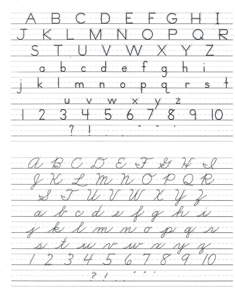 Print D Nealian Handwriting Worksheet | Printable Worksheets With D'nealian Alphabet Tracing Worksheets