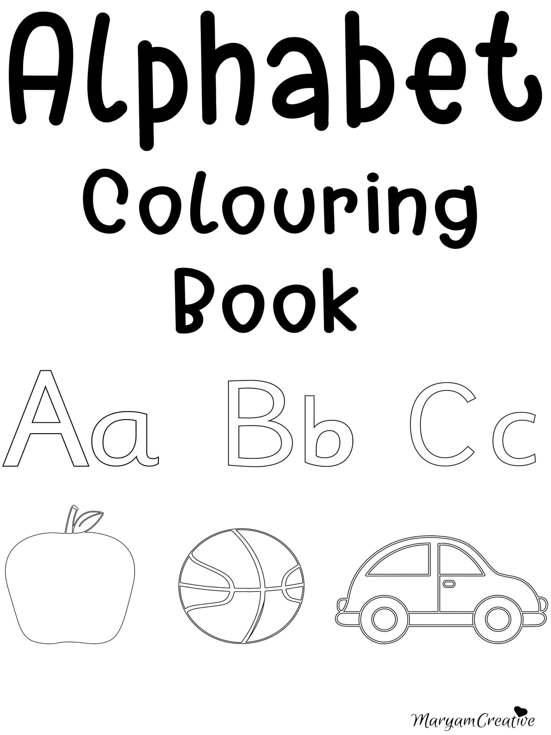 Printable Alphabet Colouring Book, Preschool, Reception inside Alphabet Worksheets For Reception