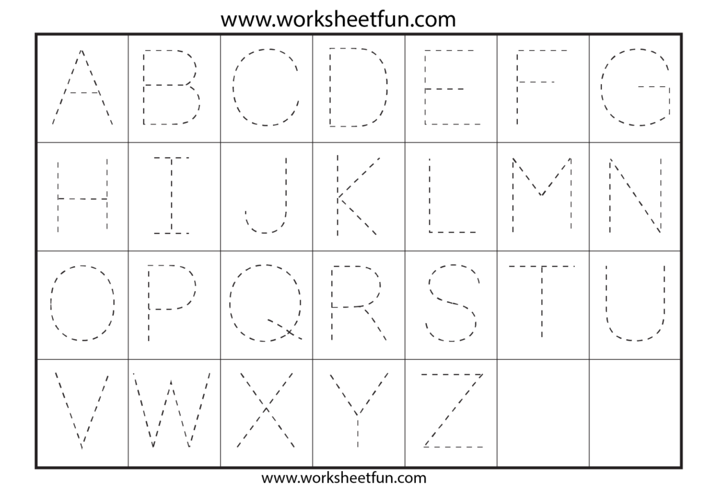 Printable Alphabet Letter Tracing Worksheets 33665 Within Alphabet Tracing Hd