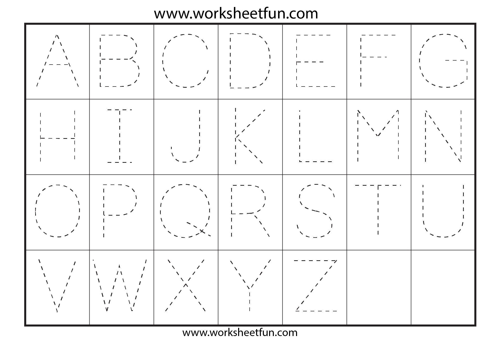 Printable Alphabet Letter Tracing Worksheets_33665 within Alphabet Tracing Hd
